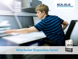 Mitarbeiter Disposition: Stellenazeige von Sülzle Stahlpartner in Dornstetten
