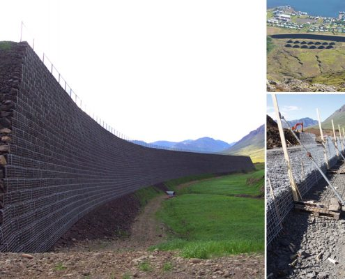 Avalanche barrier in Iceland
