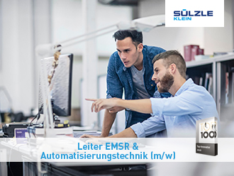 Sülzle Klein in Niederfischbach sucht einen Leiter Automatisierungstechnik & EMSR (m/w)
