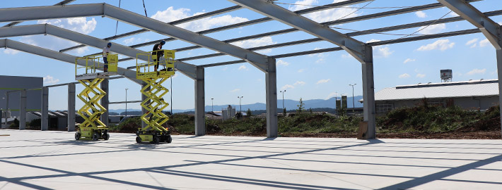 SÜLZLE Stahl Ehrenfriedersdorf: Stahlbau direkt auf der Baustelle