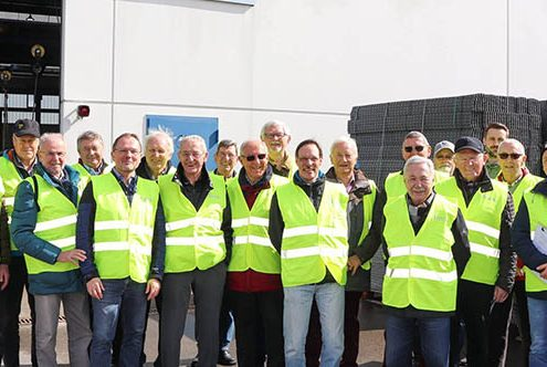 Technisch Interessierte haben SÜLZLE Stahlpartner in Rosenfeld besucht