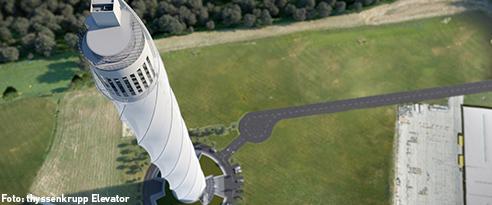 Der thyssenkrupp Testturm in Rottweil entstand mit Stahl von SÜLZLE Stahlpartner