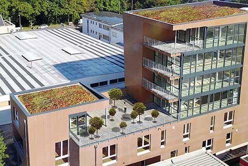 Holzbauprojekt in Tübingen mit Profilstahl von SÜLZLE Stahlpartner