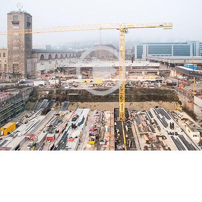 Über 70.000 Tonnen Betonstabstahl, Bewehrungsstahlmatten, 100.000 Schraubverbindungen und Abstandhalter werden von SÜLZLE Stahlpartner an Stuttgart 21 geliefert.