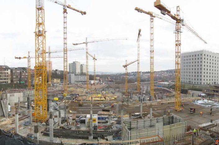 SÜLZLE Stahlpartner lieferte bis zu 1.800t Stahl pro Monat zur Baustelle des Milaneo