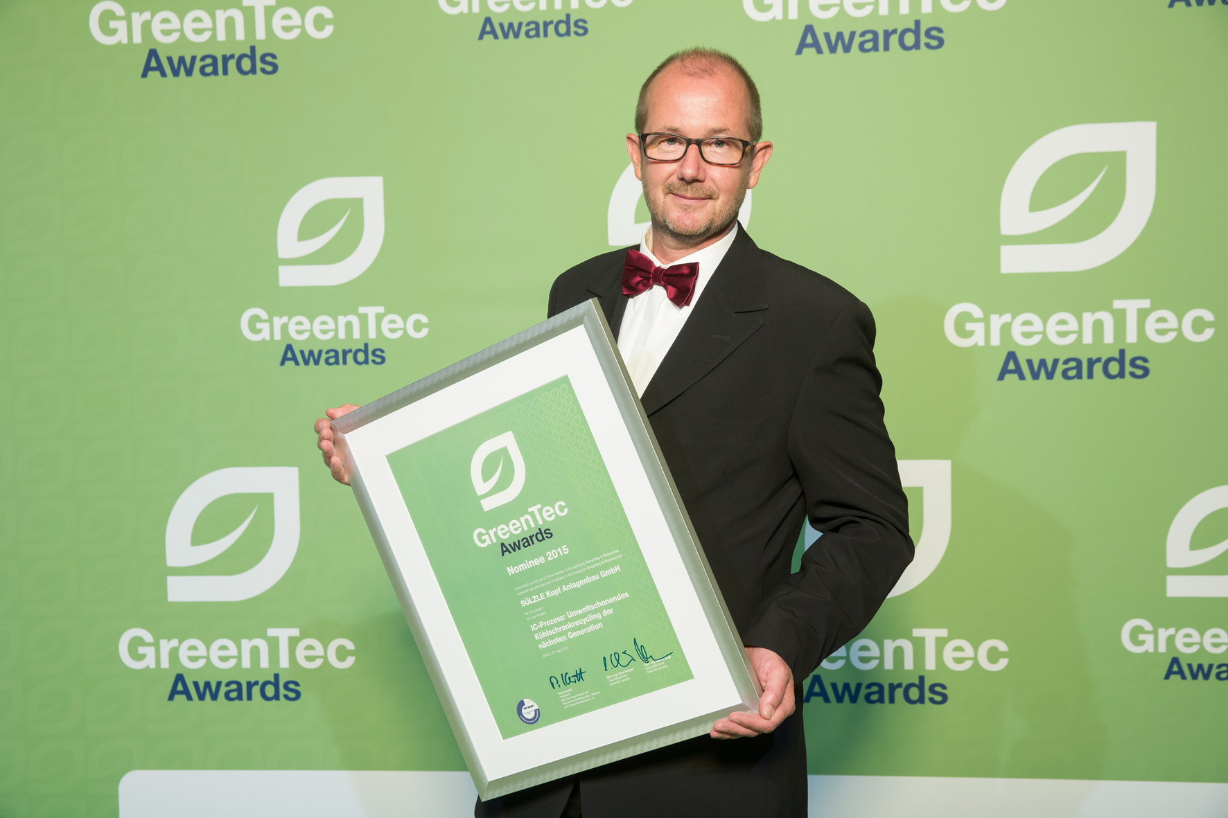 greentec award 2015 peter althaus suelzle kopf anlagenbau