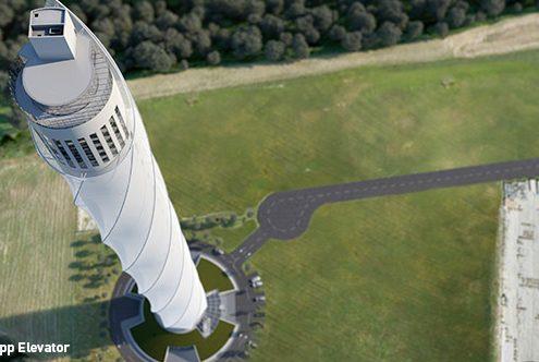 Der thyssenkrupp-Testturm in Rottweil wurde mit Stahl von SÜLZLE gebaut