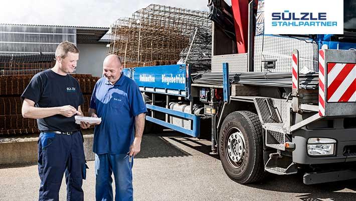 SÜLZLE Stahlpartner sucht ab sofort einen Berufskraftfahrer (m/w) für den Standort Dornstetten