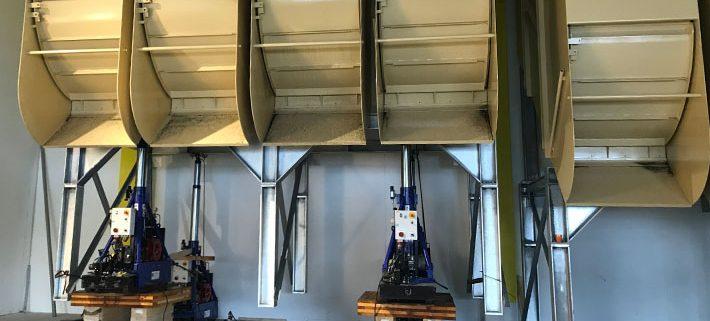 SÜLZLE KOPF Anlagenbau stellte eine 12-Kammer-Spänesiloanlage im österreichischen Dornbirn auf