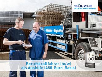 Für unseren Standort in Dusslingen suchen wir einen Berufskraftfahrer (M/W) als Aushilfe