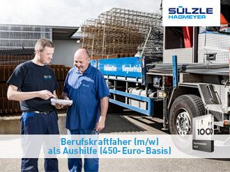 Stellenangebot: SÜLZLe Stahlpartner sucht Berufskraftfahrer (m/w) als Aushilfe auf 450€-Basis
