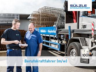 Berufskraftfahrer für SÜLZLE Stahlpartner Niederlassung in Denkendorf gesucht