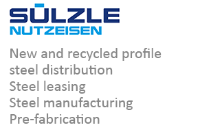 SÜLZLE Nutzeisen: new and recycled profile steel distribution, steel leasing, steel manufacturing and pre-fabrication from Sulz am Neckar