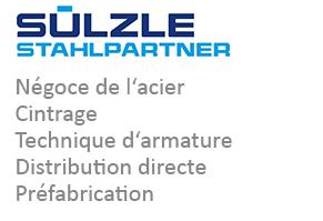 SÜLZLE Stahlpartner: négoce a l'acier, cintrage, technique d'armature, distribution directe et préfabrication