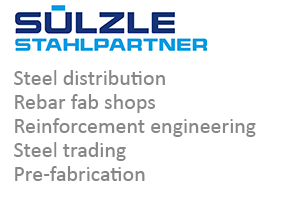 SÜLZLE Stahlpartner: steel distribution, rebar fab shops, reinforcement engineering, steel trading and pre-fabrication