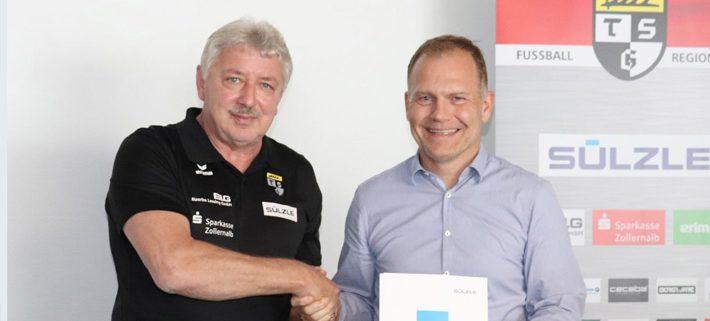 TSG Balingen & SÜLZLE Gruppe: Vertragsunterzeichnung zum Sponsoring in der Regionalliga