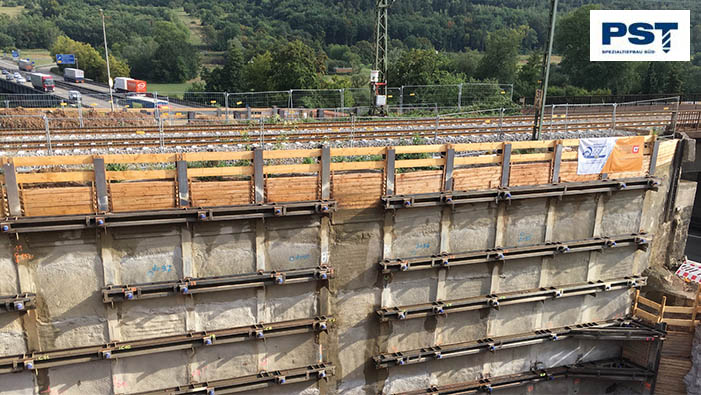 SÜLZLE Nutzeisen: Bau der Brücke über die A8