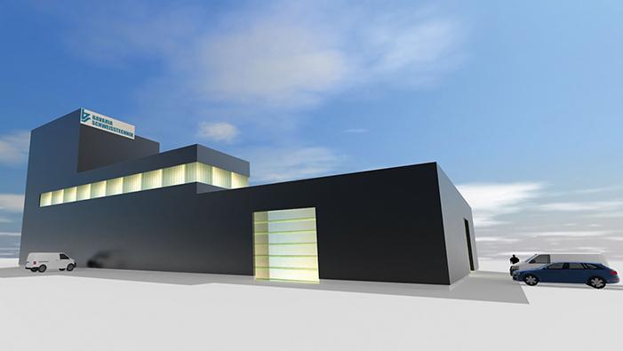 Bavaria GmbH Neubau mit Stahl aus Ehrenfriedersdorf