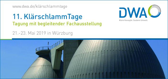 Im Mai in Würzburg: Klärschlammtage 2019