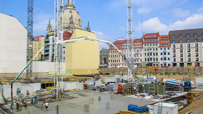 Reinforcing steel for Dresdner city project